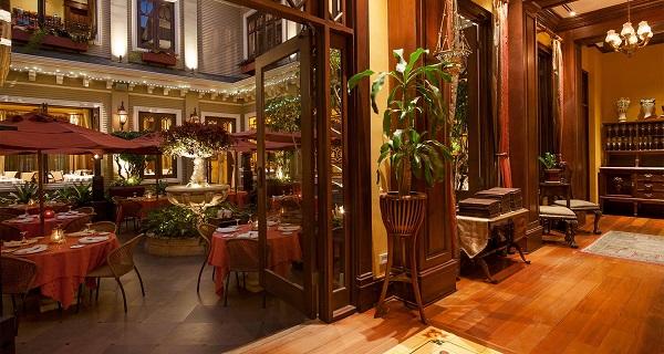 Restaurant de l'hotel Grano de Oro, San Jose Costa Rica