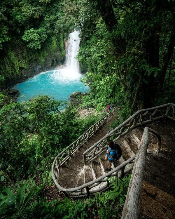 Cascade du Rio Celeste, parc national du volcan Tenorio, Costa Rica