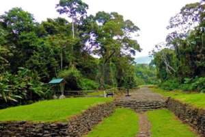 Le monument national de Guayabo vallee de Turrialba Costa Rica