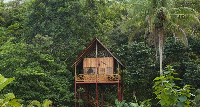 Chambre dans les arbres au Costa Rica, Tree house a Santa Clara, sejour a la carte au Costa Rica