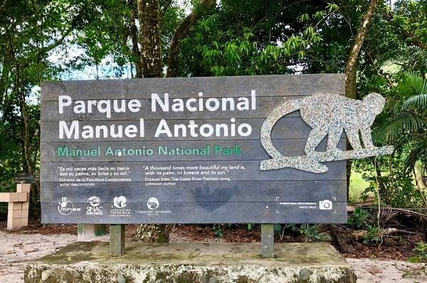 Entree du parc Manuel Antonio, Costa Rica