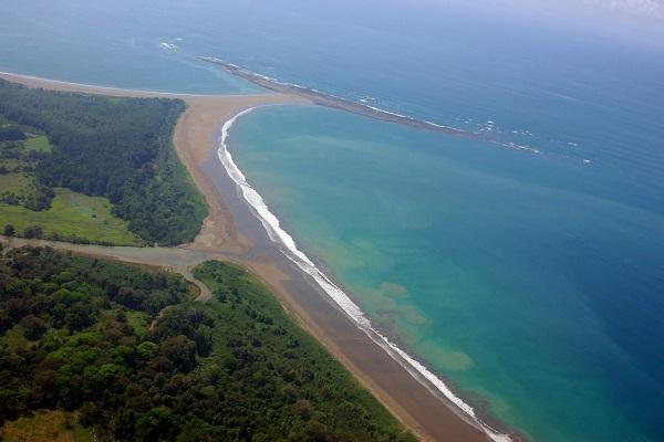 Queue de la baleine au parc national Marino Ballena Costa Rica