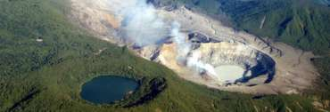 Le cratere du volcan Poas au Costa Rica
