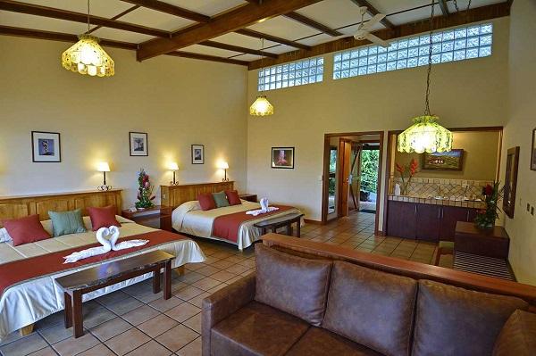 Hôtels du volcan Arenal Costarica junior suite a l'Arenal Observatory lodge