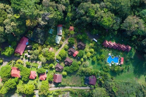 Hacienda Baru vu du ciel pacifique Costa Rica