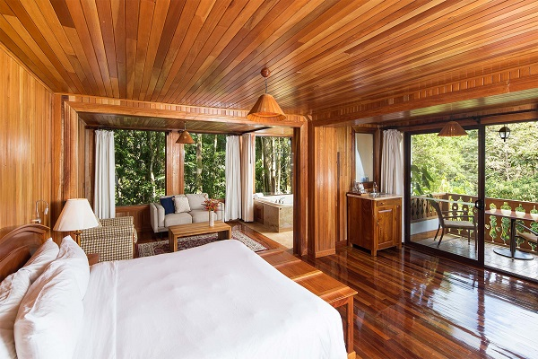 hotels Monteverde Santa Elena chambre dans le chalet de ll'hotel Belmar
