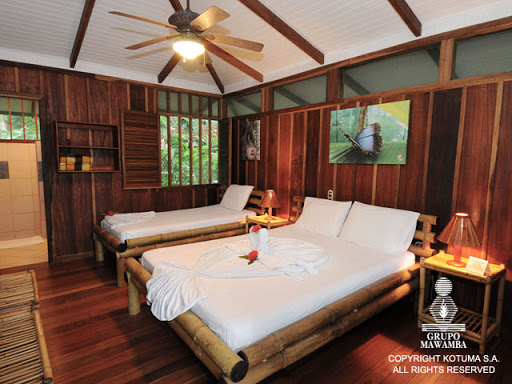 Chambre au Mawamba lodge de Tortuguero