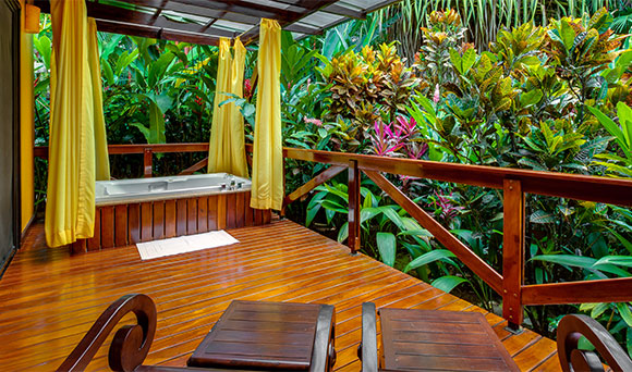 Hôtels du volcan Arenal Costarica salle de bain a l'Hotel Nayara