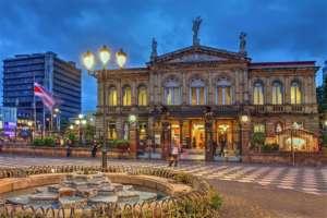 San Jose capitale du Costa Rica Theatre national a San Jose