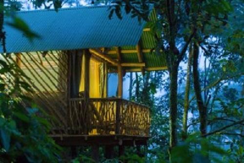 Exterieur de la chambre La Tigra Rain forest lodge la Tigra, volcan Arenal, La Fortuna Costa Rica
