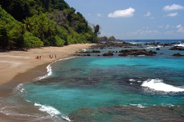 Playa Caletas, peninsule de Osa, Drake Bay, Costa Rica