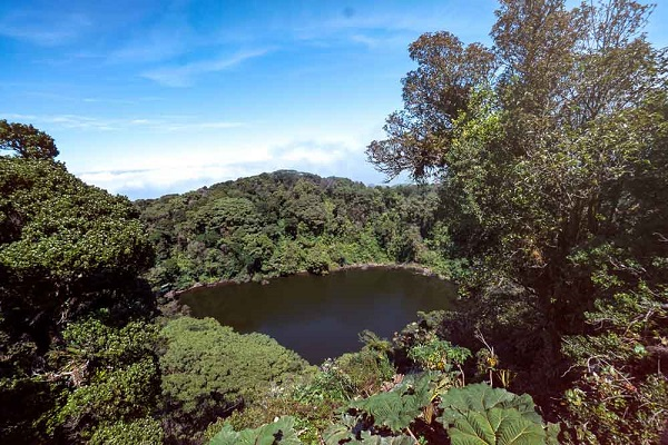 Lagune du volcan Barva, province de Heredia