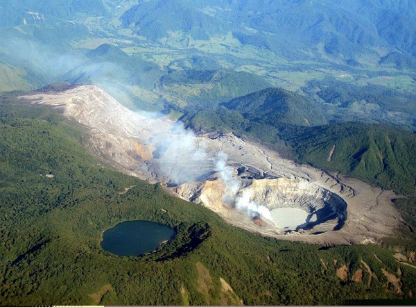 Le volcan Poas, province de Alajuela, Costa Rica