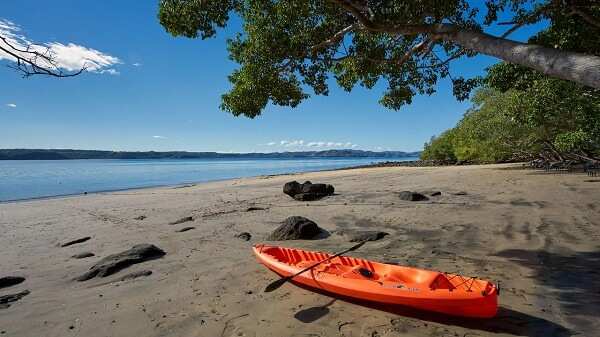 Plage du nord de la côte Pacifique, golf de Papagayo, nord de la péninsule de Nicoya, Costa Rica.