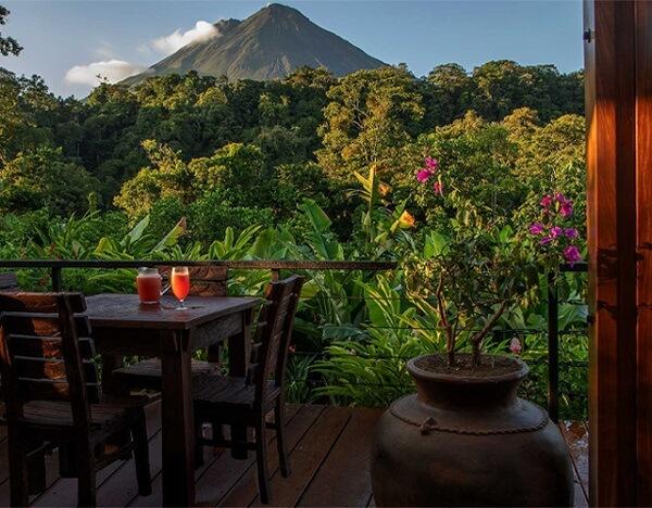 Vue sur le volcan Arenal