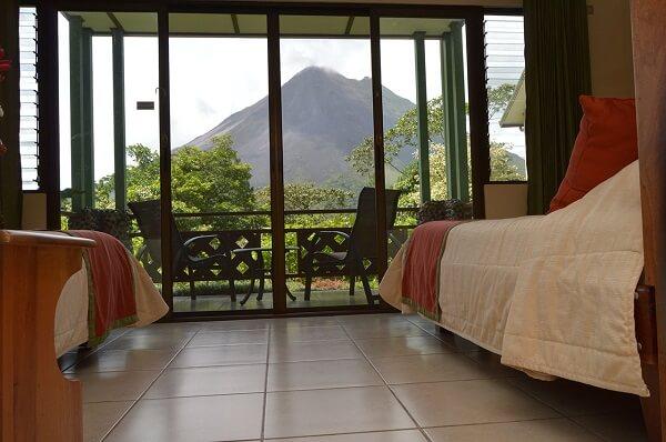 Hôtels du volcan Arenal, Arenal Observatory vue de la chambre.