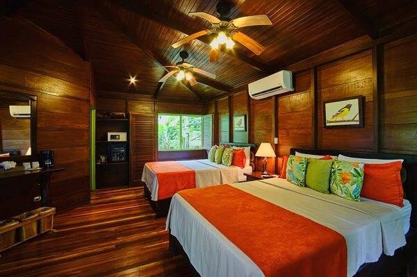 Hôtels du volcan Arenal, hôtel Chachagua Rain forest, chambre