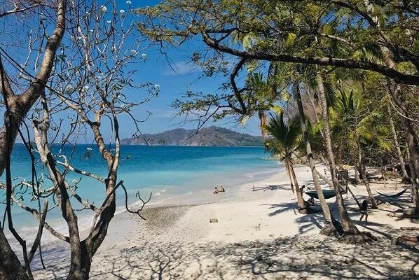 Plage de Curu, péninsule de Nicoya du Costa Rica